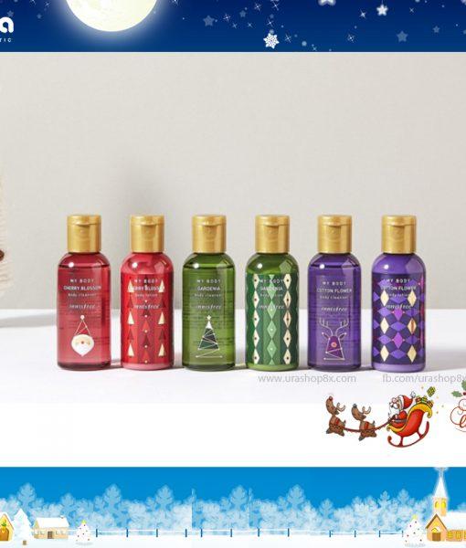 Set innisfree Noel tắm + dưỡng 5%