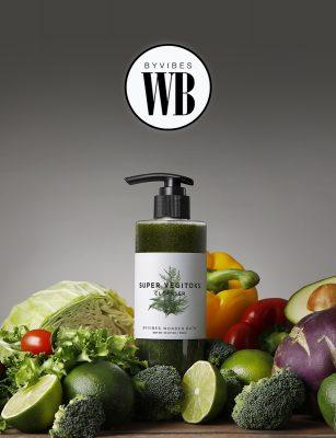 Sữa Rửa Mặt Rau Củ Byvibes Wonder Bath Super Vegitoks Cleanser