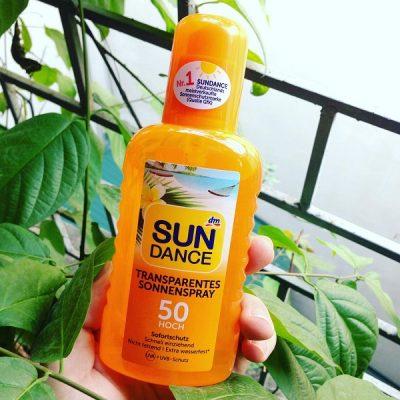 Xịt chống nắng Sundance transparentes Sonnenspray SPF50