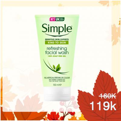 Sữa rửa mặt Simple Refreshing facial wash gel