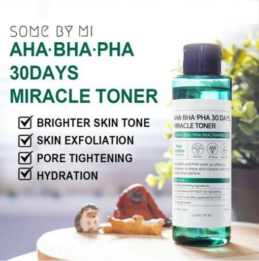Nước Hoa Hồng Some By Mi AHA-BHA-PHA 30 Days Miracle