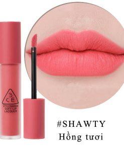 Son 3CE Kem Soft Lip Lacquer Màu Shawty