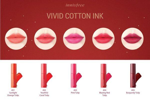 Son Tint Siêu Lì Innisfree Vivid Cotton Ink
