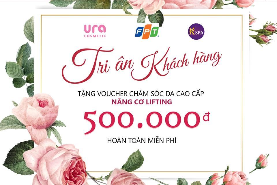 Tặng Voucher chăm sóc da cao cấp Nâng Cơ Lifting       trị giá 500k - HOÀN TOÀN MIỄN PHÍ.