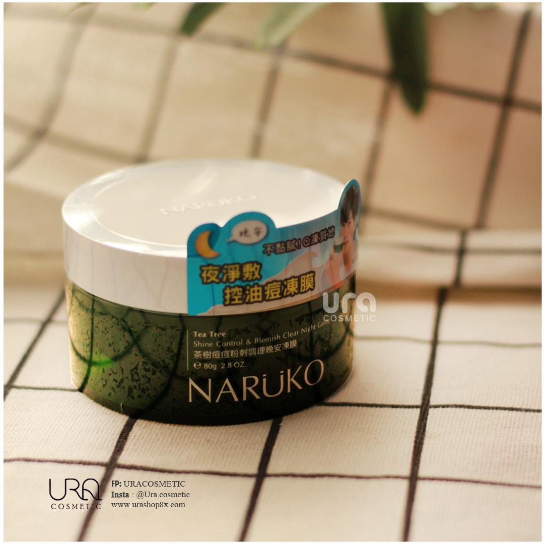 Kết quả hình ảnh cho Mặt nạ ngủ Naruko Tea Tree Shine Control Blemish Clear Night Gelly